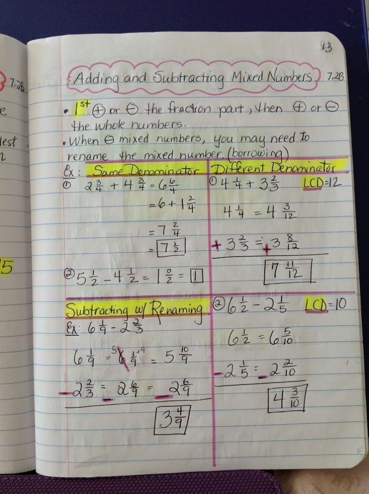 Adding and Subtracting Mixed Numbers – Adding and Subtracting Mixed Numbers Worksheets 5th Grade