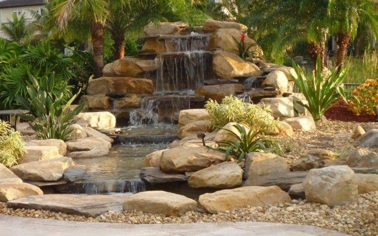 Cascadas y cataratas en el jardín - 63 ideas refrescantes Jardín