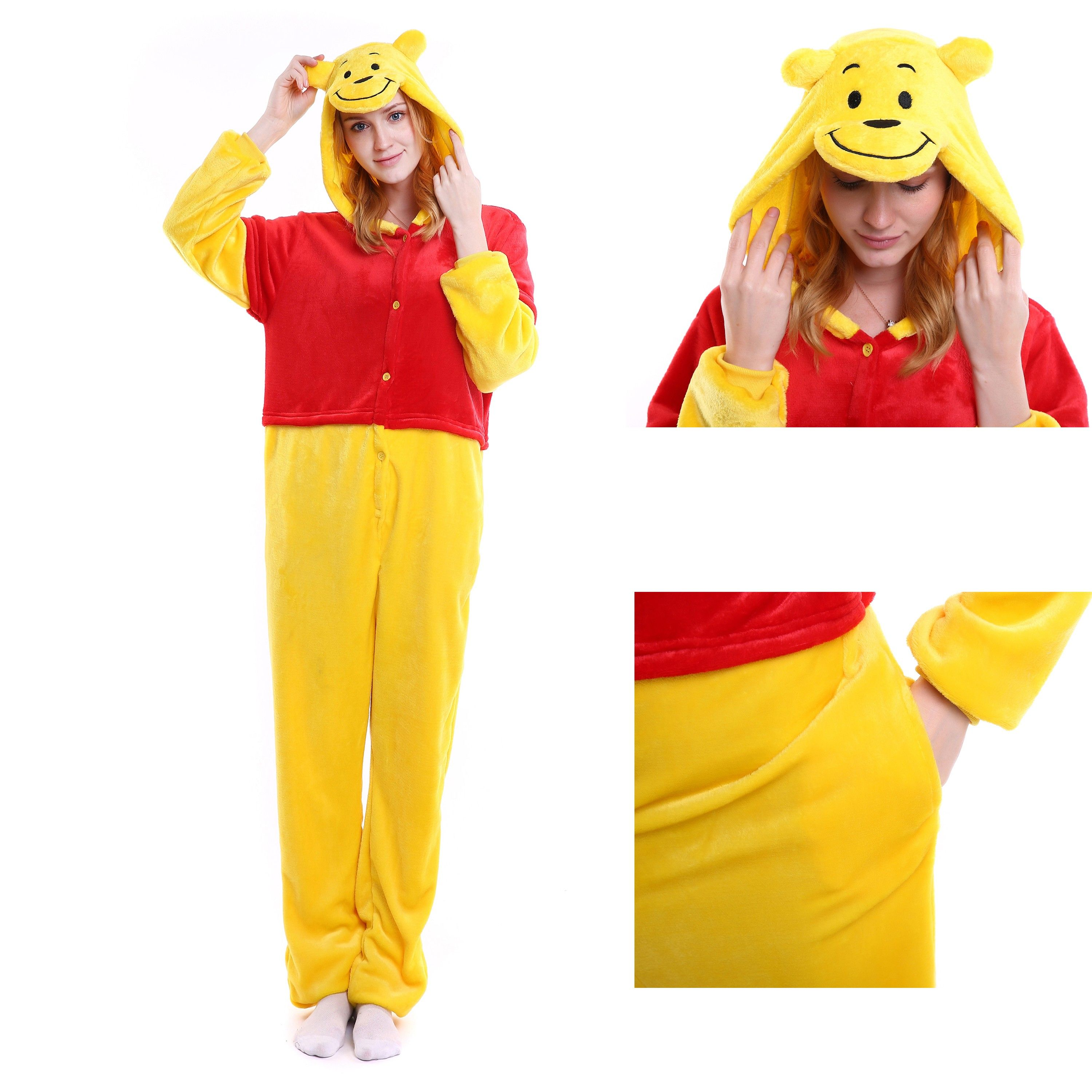 a0a60f90d Winnie the Pooh Onesie for Adult Animal Kigurumi Disney Pajama Party ...