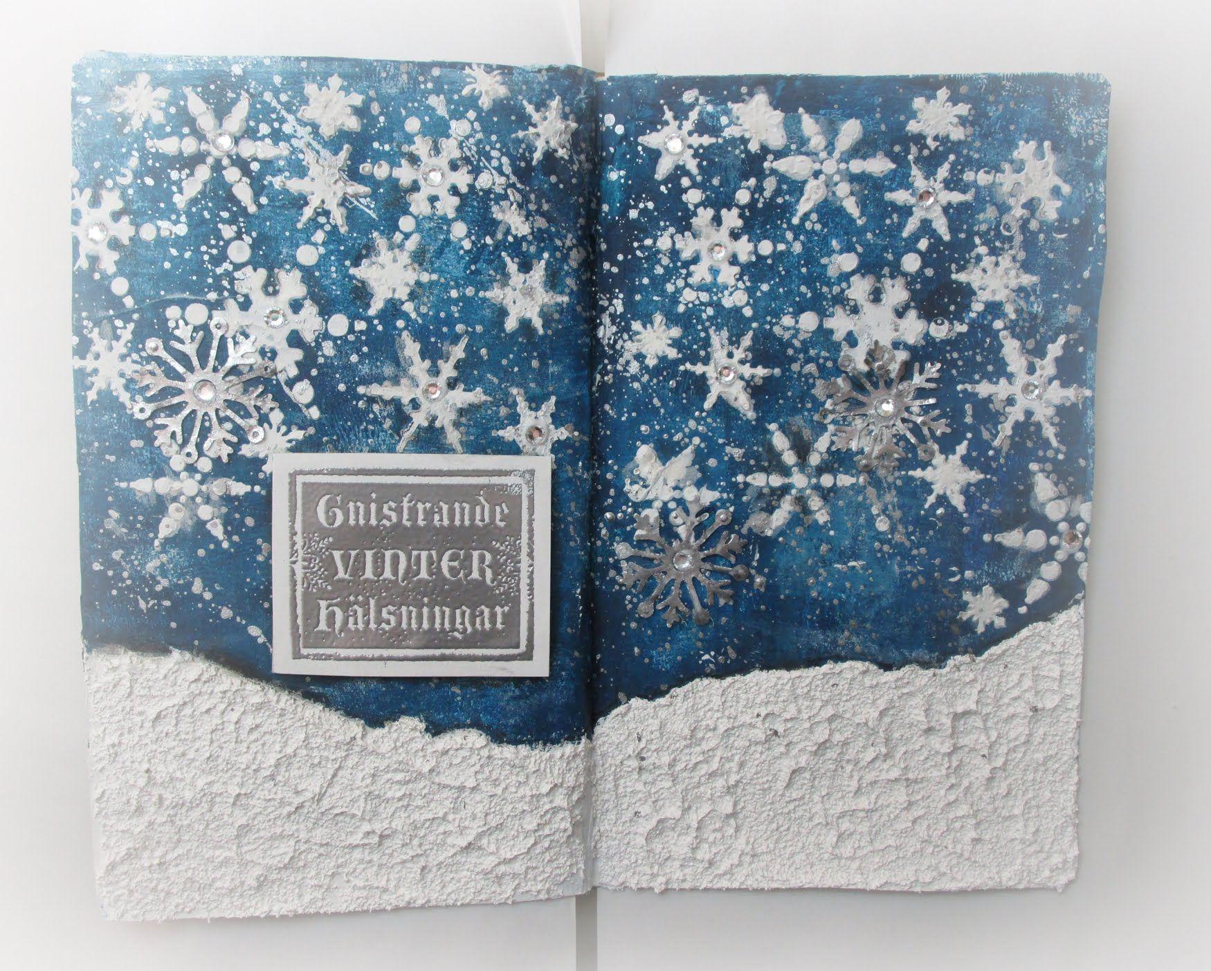 #LoveWinterArt - Gnistrande vinter hälsning / Sparkling Winter Greetings