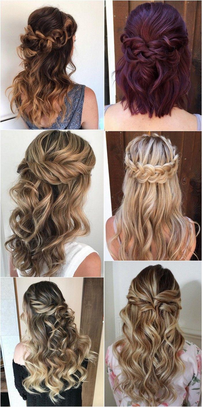 Half up half down wedding hairstyles bridalfashion hairstyles