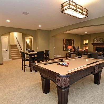Built In Basement Design Ideas Pictures Remodel And Decor Basement Design Basement Painting Traditional Family Rooms