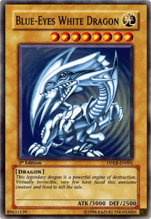 Blue Eyes White Dragon White Dragon Yugioh Cards Yugioh Dragons