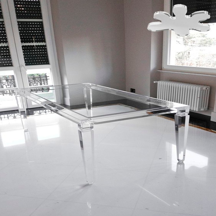Clear Acrylic Coffee Table With Heels Or Waterfall Coffee Table