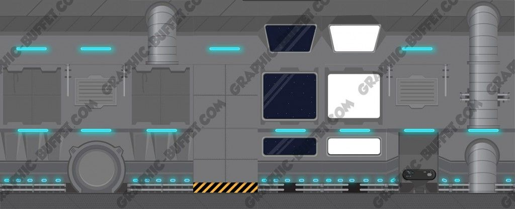 2D Space Ship Background Tiles   Space Station   Background tile