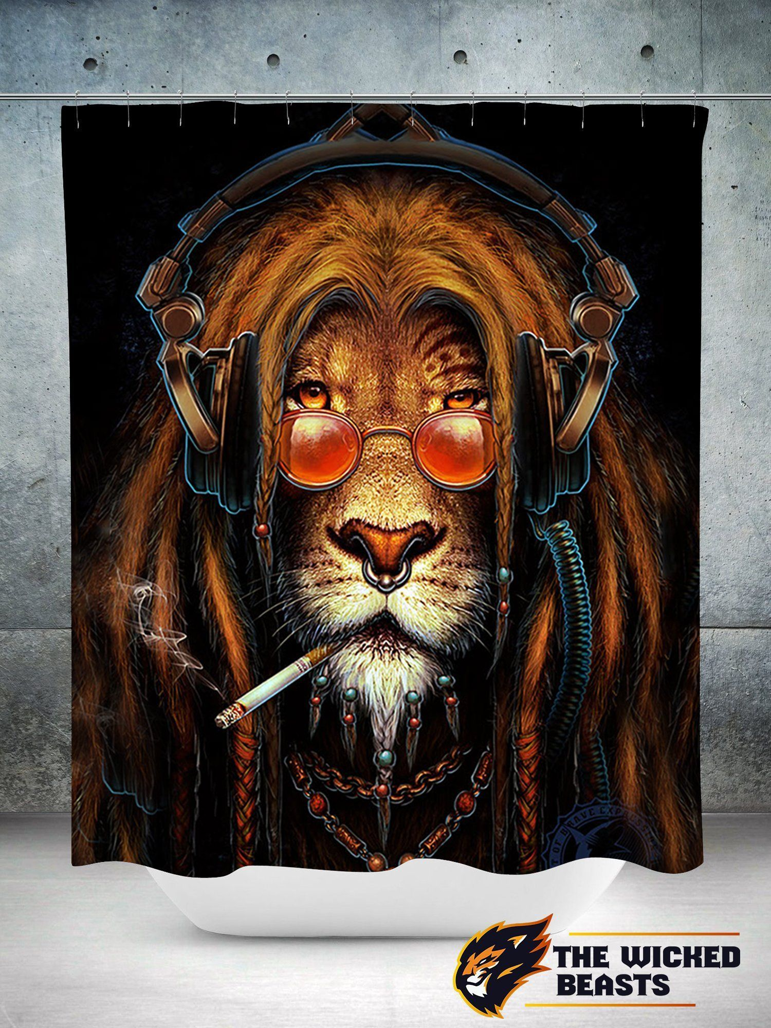 Hiphop Lion Shower Curtain