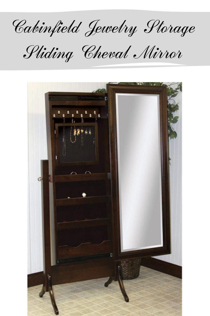 Cabinfield Jewelry Storage Sliding Cheval Mirror