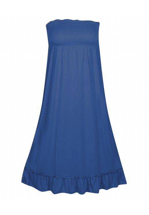 Royal Smock Top Maxi Dress Plus Size Dresses Onestopplus Style