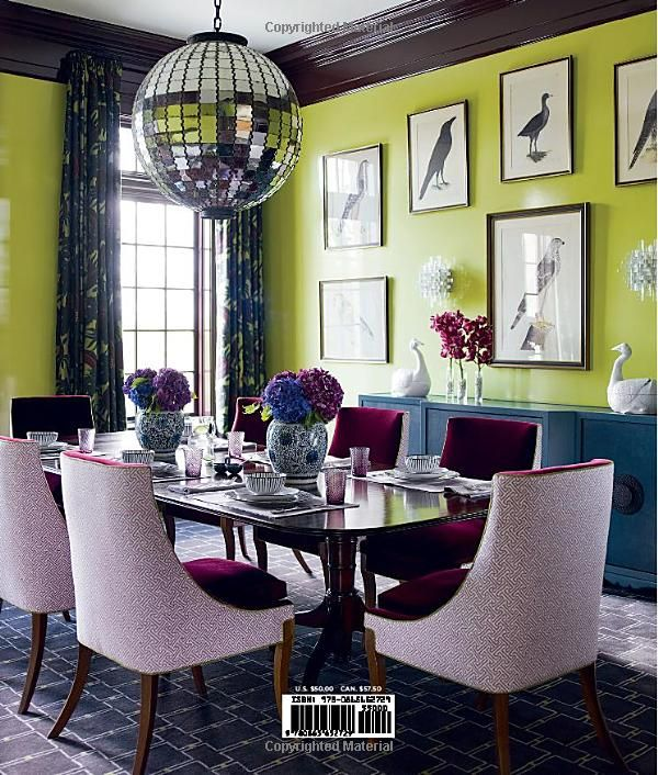 A Perfect Place To Introduce Bold Colorbecause You Want Conversation Pop Purple Dining RoomsDining
