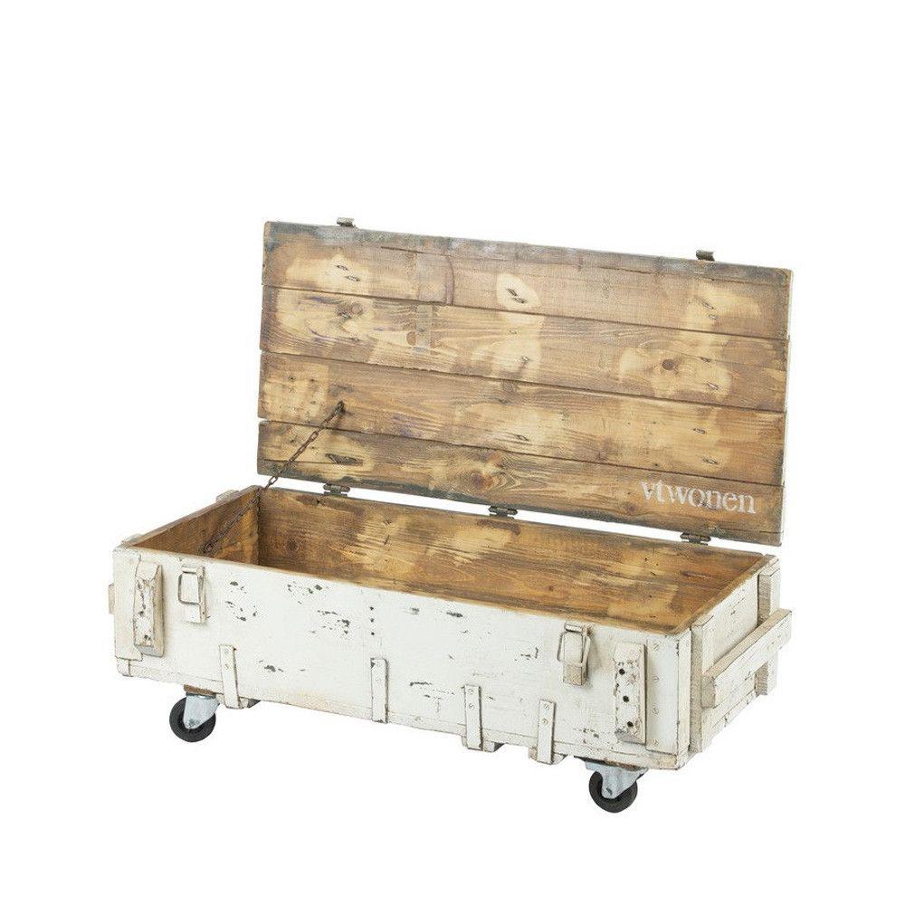 table basse coffre en bois avec