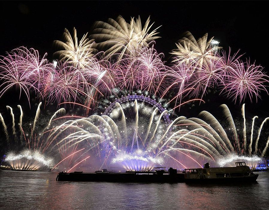 New Year's Eve London Eye Fireworks 2018 New years eve