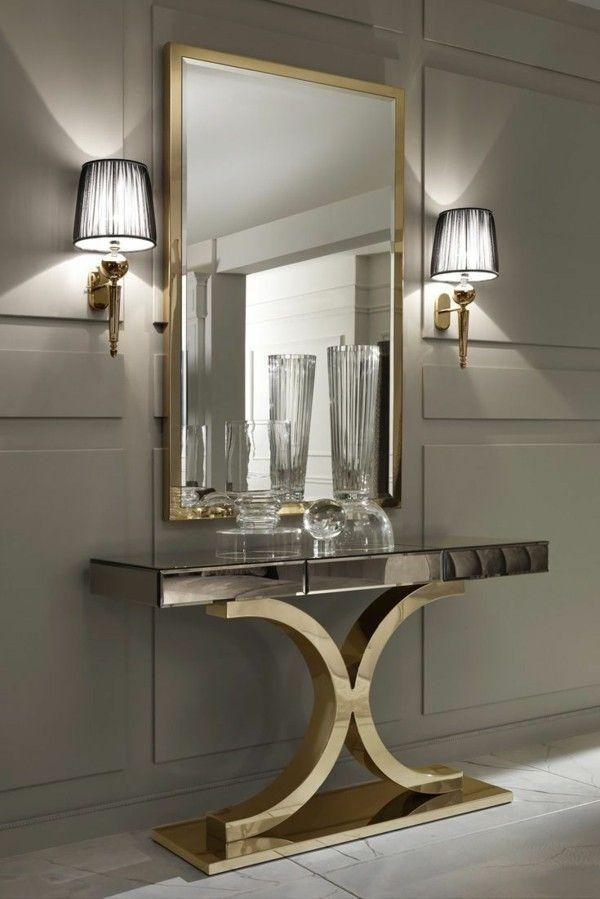 wandspiegel einfache dekoideen f r eine modernere ausstrahlung des raums wandspiegel deko. Black Bedroom Furniture Sets. Home Design Ideas