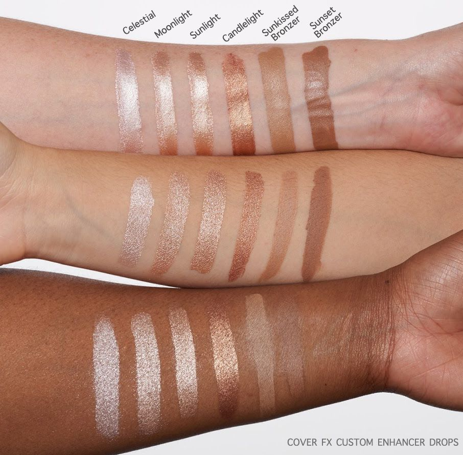 Cover FX Custom Enhancer Drops Cover fx, Makeup swatches