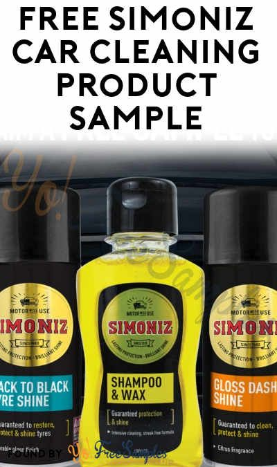 UK ONLY FREE Simoniz Car Cleaning Product Sample Sweepstakes