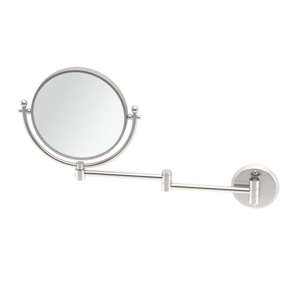 Gatco 15 In X 12 In Framed Makeup Mirror With Swing Arm In Brass 1423 Silver Wall Mirror Black Wall Mirror Lighted Wall Mirror