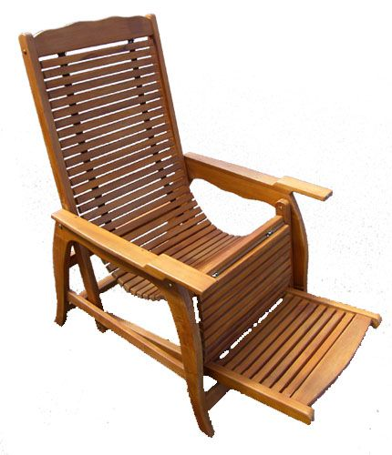 Oiled Teak Reclining Deck Chair 1001 Oiled Teak Reclining