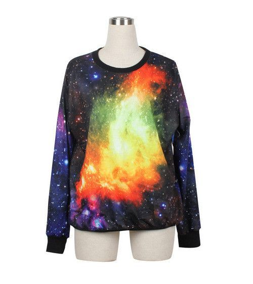 Raisevern Fashion women/men beautiful space print galaxy Hoodies sky 3d sweatshirt casual tops high quality sweat wholesale