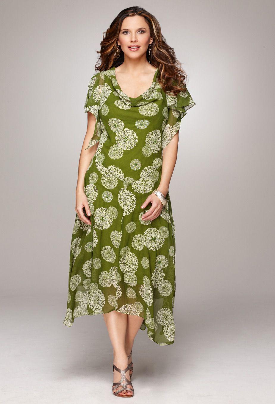 Plus Size Georgette Print Dress | Plus Size Dresses & Skirts ...