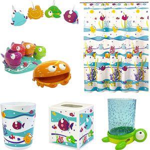 Somethingu0027s Fishy Bathroom Collection Value Bundle Bathroom Collections, Bathroom  Kids, Upstairs