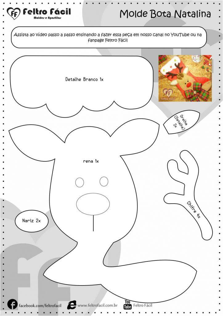 Bota de Natal em Feltro | Pinterest | Puppen, Anleitungen und ...