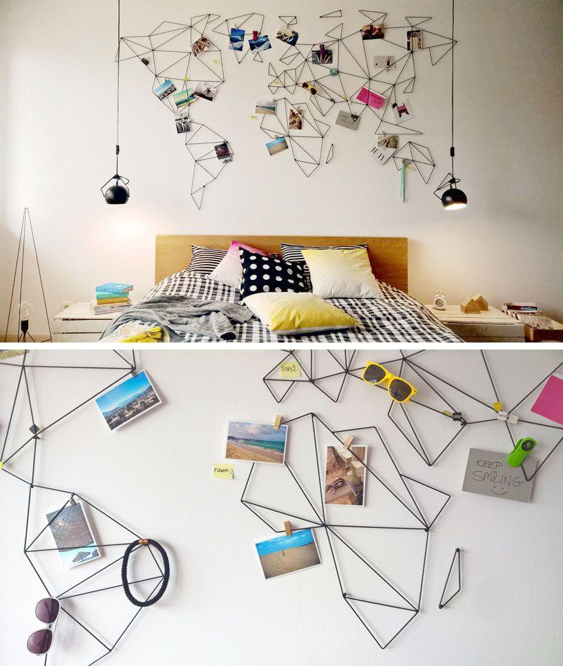 Идеи оформления стен которые перевернут ваш мир Holidays Room - Wall map travel pins