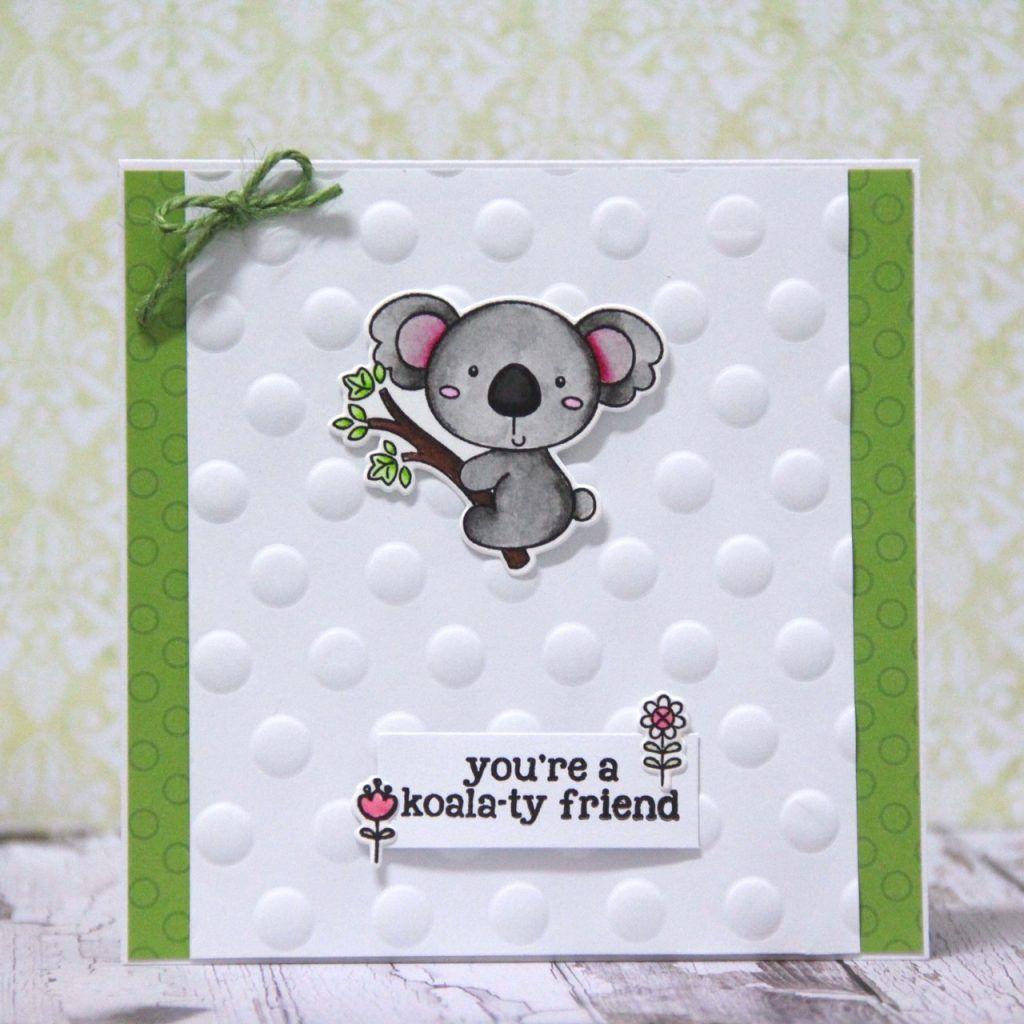 Koala card | Pink and Main Blog