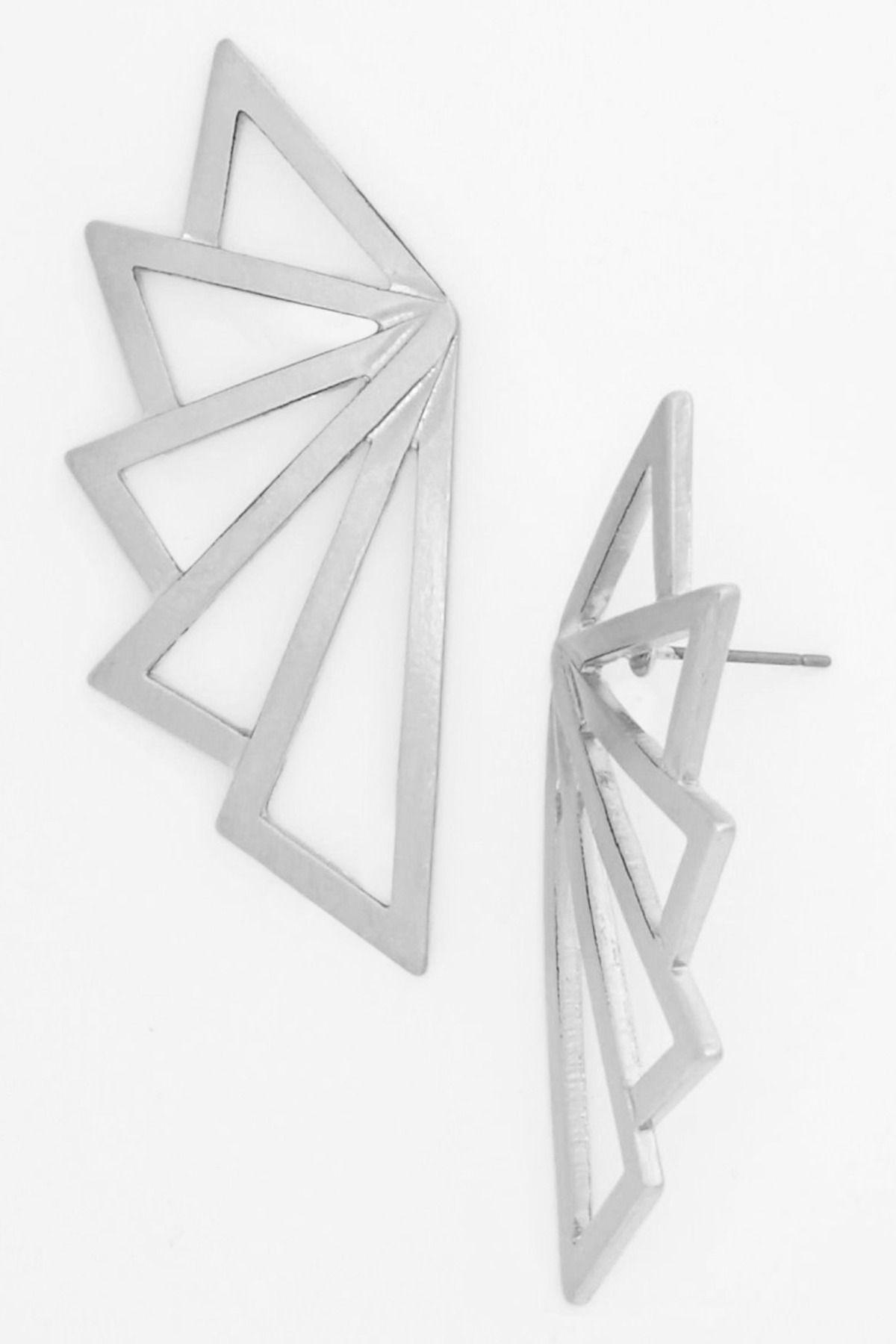 Flight geometric wing earrings | jewelry design