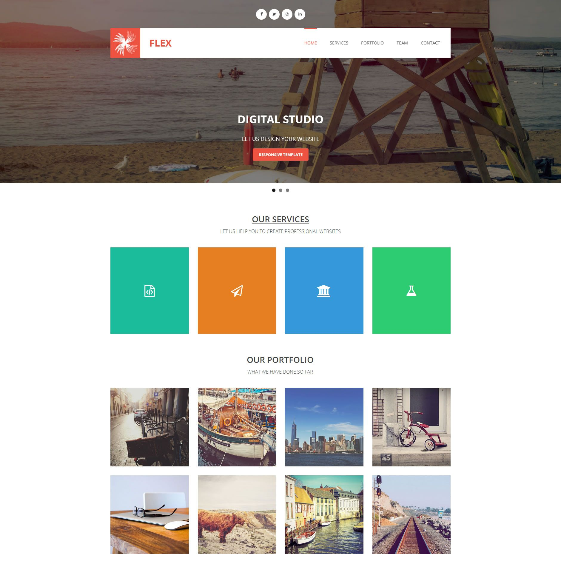 Website Template Templatemo Flex Httpwwwtemplatemotemplates