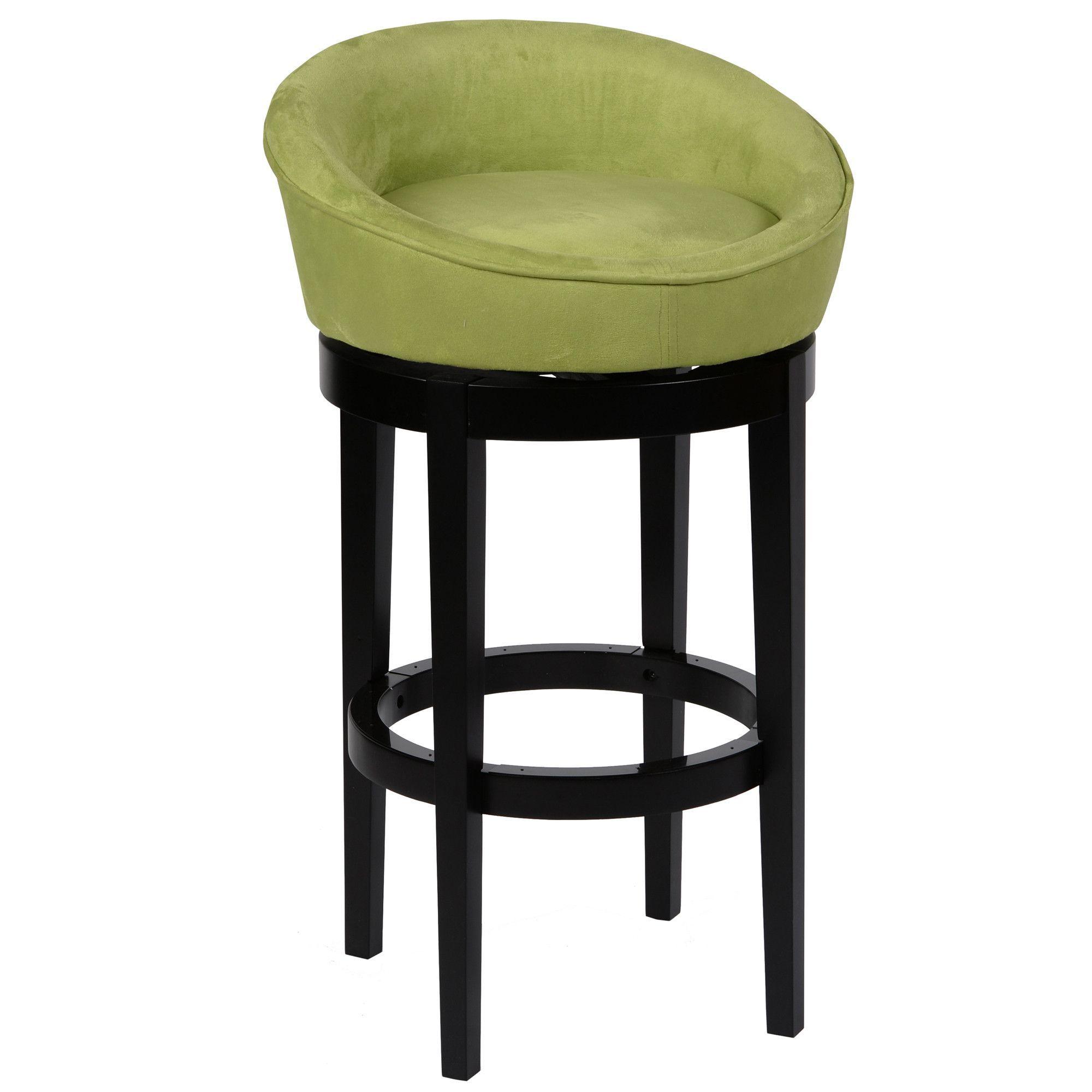 Igloo Green Microfiber 30 Swivel Barstool With Ebony Finished Legs Bar Stools Swivel Bar Stools Swivel Counter
