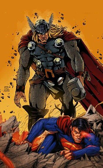 comicszoopage   thor thor vs superman marvel