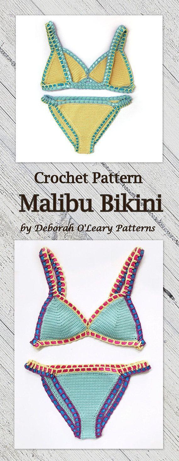 Crochet Bikini Pattern - Malibu Bikini - Easy Crochet Pattern - by ...