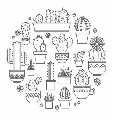 Pingl par sur pinterest - Coloriage cactus ...