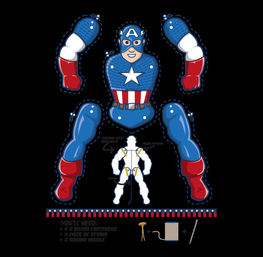 Captain America Ausmalbilder: Kiddie Stuff - Crafts