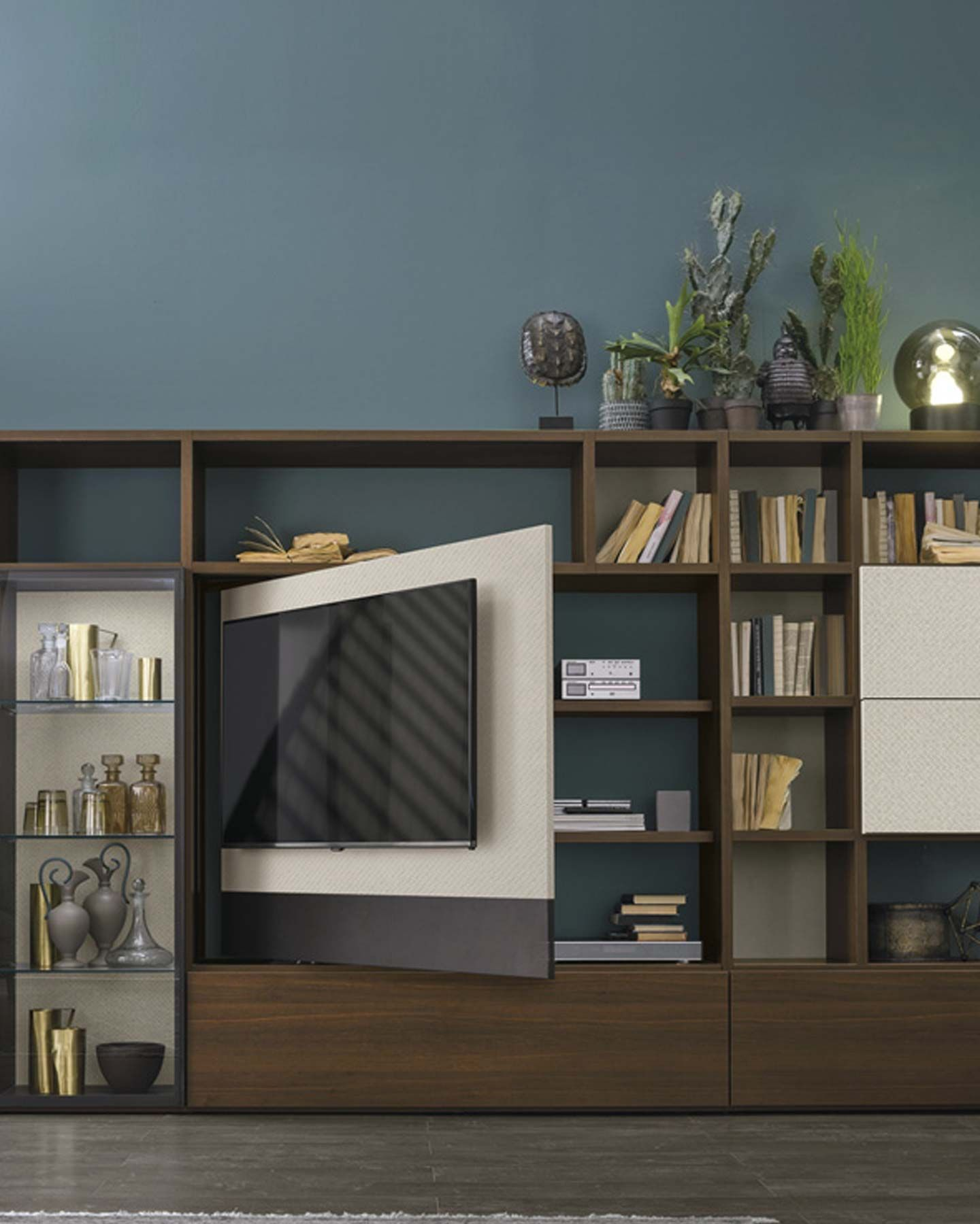 Composizione A117   Soggiorno moderno, Scaffali, Mobili tv