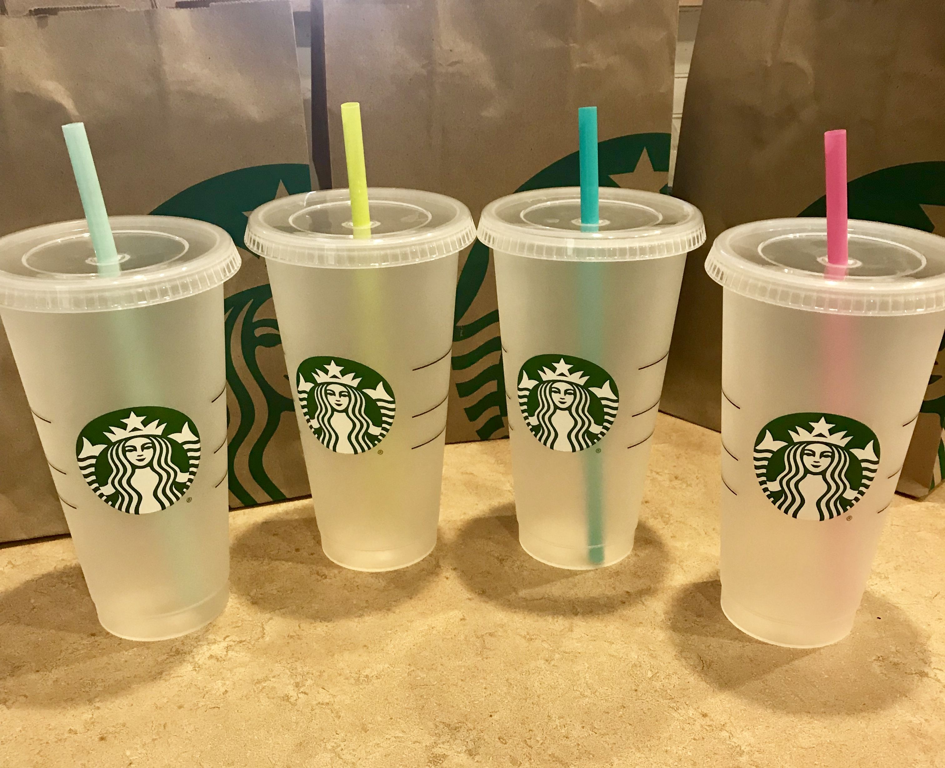Starbucks New Reusable Tumbler Straw Cup Straws Not