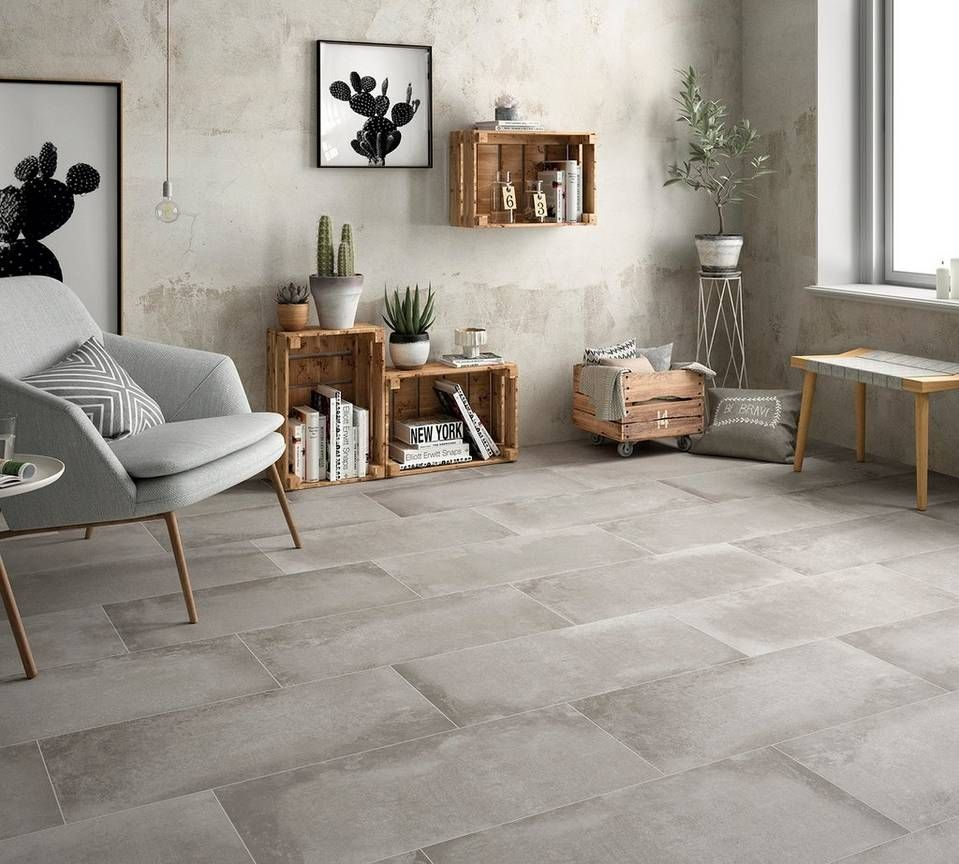 Cement Look Tile For Different Styles Gray Porcelain Tile