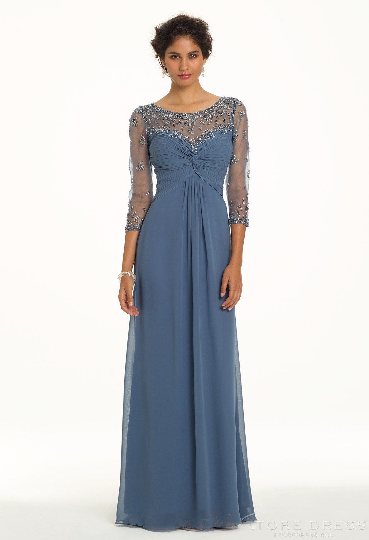 chic Sheath / Column V-neck Natural Ruffles Prom Dress 2014 New ...