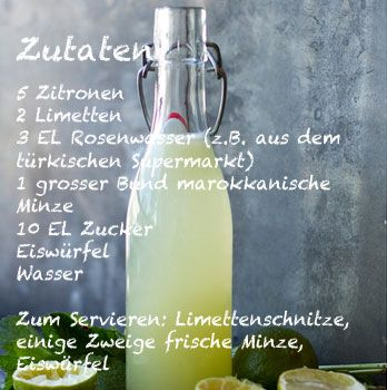 limonana rezept limonade rezept mit rosenwasser und minze rezepte pinterest limonade. Black Bedroom Furniture Sets. Home Design Ideas