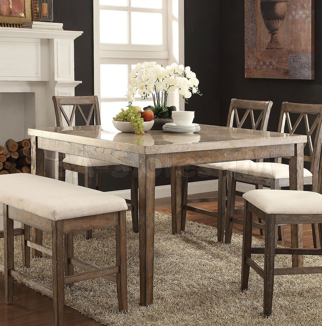 Claudia Counter Height Table | Salvage Brown | mom and dad ...