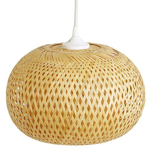 Bambuslampe Dong Ha, Lampe aus Bambus als Hängelampe - bambus im wohnzimmer