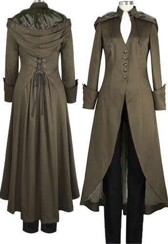Photo of Plus Size Women Halloween Victorian Double Cape Coat Long Jackets