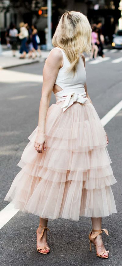 49a1d76a6d This layered tulle skirt in a confectionary pink has us head over heels in  love. Love Me More Layered Tulle Skirt and A Fan of Bowknot Crop Top ...