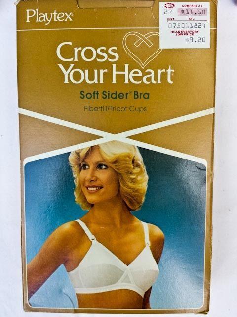 ece7e1549b9e4 Lot of 4 Vintage Playtex Cross Your Heart Bras  961 Soft Sider 34B Seam No  Wire  Playtex