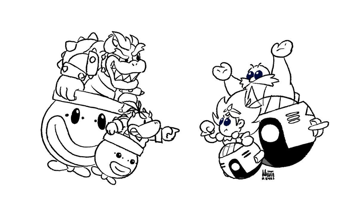 Image result for eggette and bowser jr Coloring pages