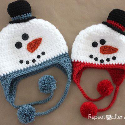 Crochet Snowman Hat Pattern   Crochet hats   Pinterest   Gorros ...