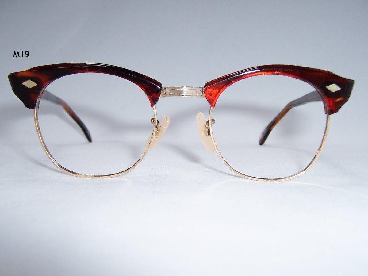 42886625410 Vintage 1960 s Rockabilly Geezer Brow Line Spectacles- Vintage Glasses - Dead  Men s Spex
