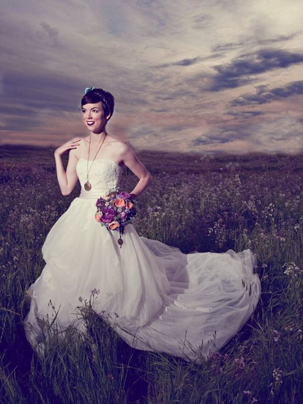 Hermosa Damas De La Gasa Se Viste Motivo - Vestido de Novia Para Las ...