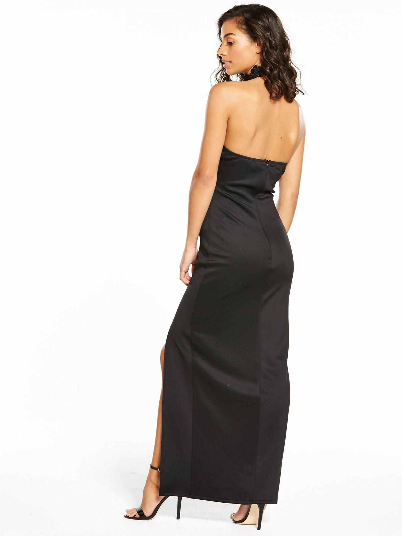 e2256463c AX Paris Petite Lace Choker Maxi Dress - Black Get the red carpet look with  this