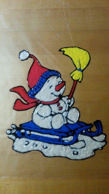 Window Color ( Schneemann ) Weihnachtsmalvorlagen