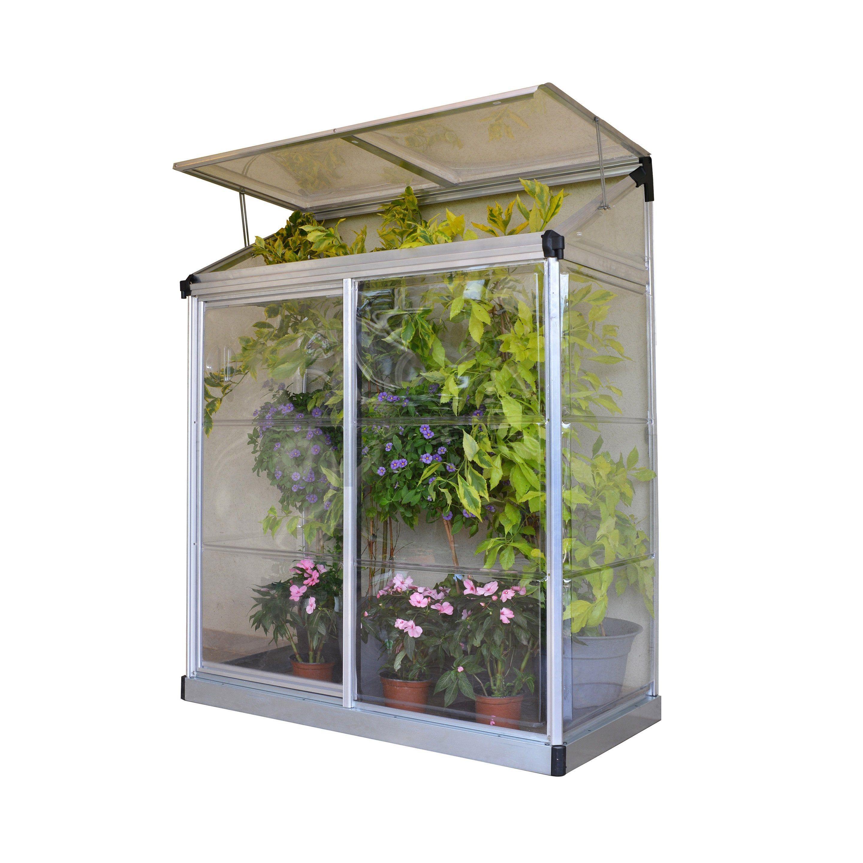Serre De Jardin En Polycarbonate Simple Paroi Lean To Grow 0 75 M Palram Serre Balcon Serre Jardin Et Mini Serre De Jardin